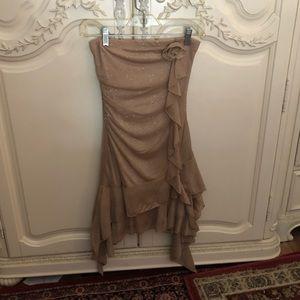 My Michelle Glitter Gold Formal Dress